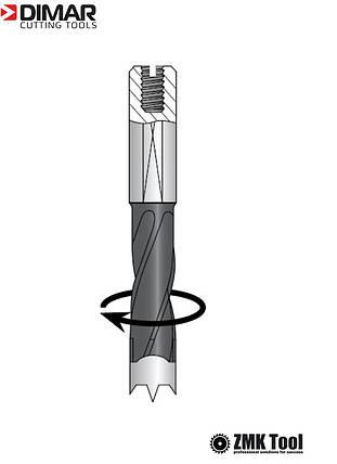 Сверло DIMAR глухое с двойной спиралью 12,7х70 правое, фото 2