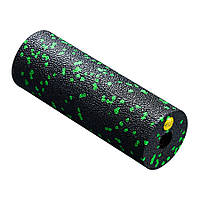 Массажный ролик, валик, роллер 4FIZJO Mini Foam Roller Black-Green 15 x 5.3 см