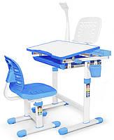 Комплект парта и стульчик Evo-kids Evo-10 BL (с лампой)