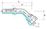 Ниппель DKM М18х1,5 , под шланг dу=10 мм. (угол 45 °), фото 3