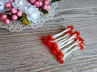Тычинки Тайские - капельки. Цвет оранжевые капельки. 24-25 ниток 48-50 головок
