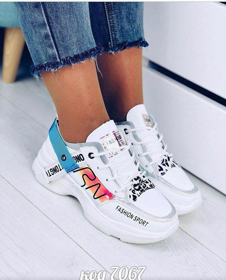 Женские кроссовки OS031 белые