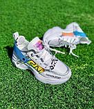 Женские кроссовки OS031 белые, фото 4