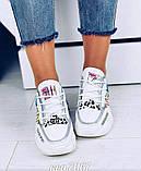 Женские кроссовки OS031 белые, фото 2