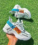 Женские кроссовки OS031 белые, фото 3