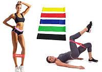 Набор лент-эспандеров резинок для фитнеса 5 шт