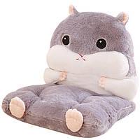 Плюшевая подушка Хомяк, Мягкое Кресло, Подушка для сидения, Плюшевая Игрушка Хомяк