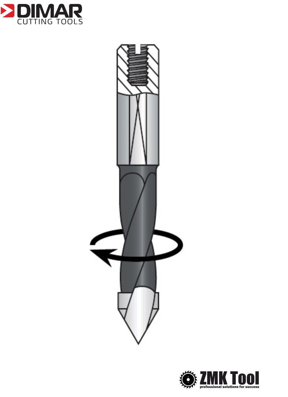 Сверло DIMAR сквозное 4x57.5 правое