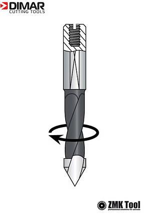 Сверло DIMAR сквозное 4x57.5 правое, фото 2