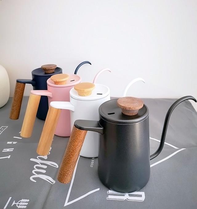 Чайник з нержавіючої сталі для кави тонким носиком гусячим