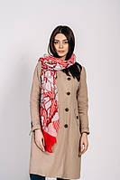 Женский весенний шарф Каролин красный