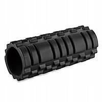 Массажный ролик, валик, роллер SportVida Black 33х13 см