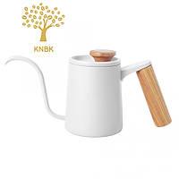 Чайник для кави з довгим носиком 600 мл (Білий), фото 1