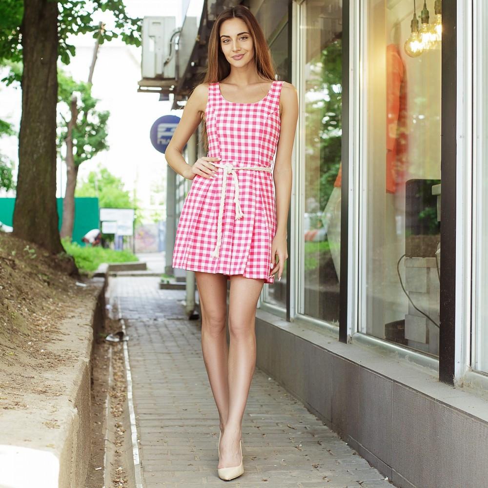 Платье - сарафан в модную клетку