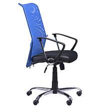 Кресло АЭРО HB сиденье Сетка черная, Неаполь N-20/спинка Сетка синяя, фото 3