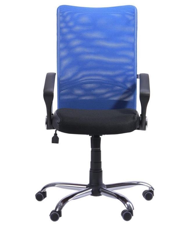 Кресло АЭРО HB сиденье Сетка черная, Неаполь N-20/спинка Сетка синяя (3)