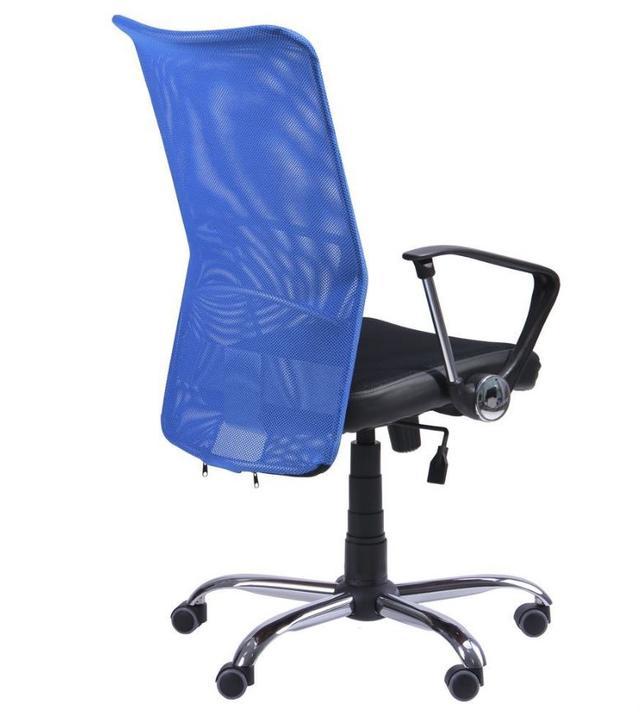 Кресло АЭРО HB сиденье Сетка черная, Неаполь N-20/спинка Сетка синяя (4)