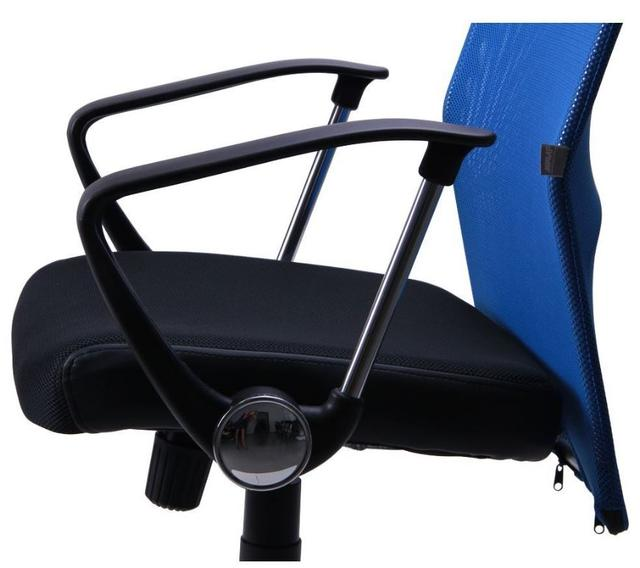 Кресло АЭРО HB сиденье Сетка черная, Неаполь N-20/спинка Сетка синяя (5)