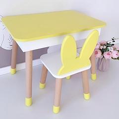 Деревянный прямоугольный стол с пеналом (внутренняя полочка). 100% дерево массив бук
