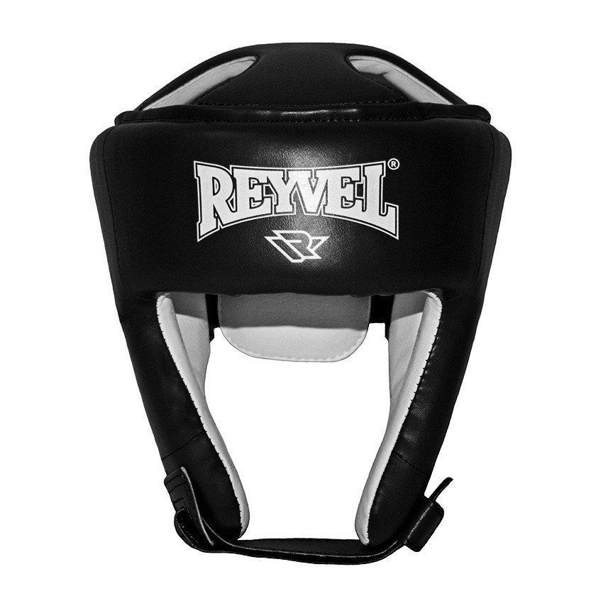 Боксерский шлем Reyvel винил черный (размер M, L)