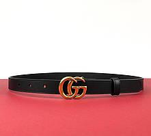 Женский кожаный ремень Gucci 2 см (Гуччи) арт. 70-03