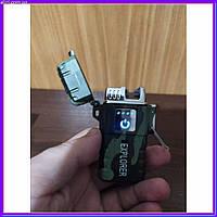 Зажигалка электроимпульсная двойная дуга Explorer в подарочной коробке