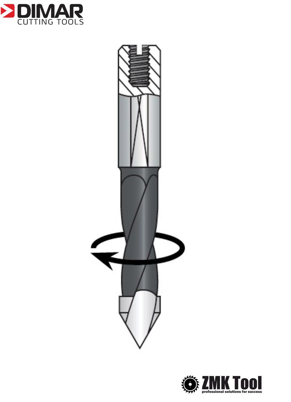 Сверло DIMAR сквозное 5x57.5 правое