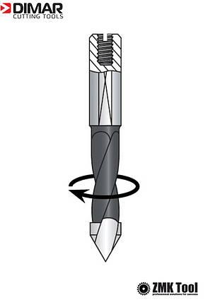 Сверло DIMAR сквозное 5x57.5 правое, фото 2