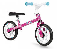 Детский металлический беговел First Bike Pink Smoby 770205 розовый