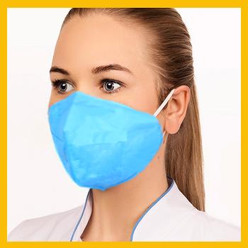 Женская маска медицинская многоразовая