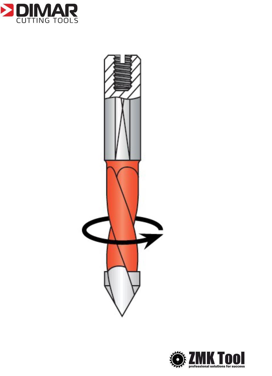Сверло DIMAR сквозное 4x57.5 левое