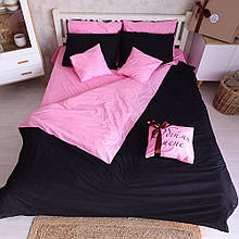"""Двухсторонний комплект постельного белья """"Pink black"""""""
