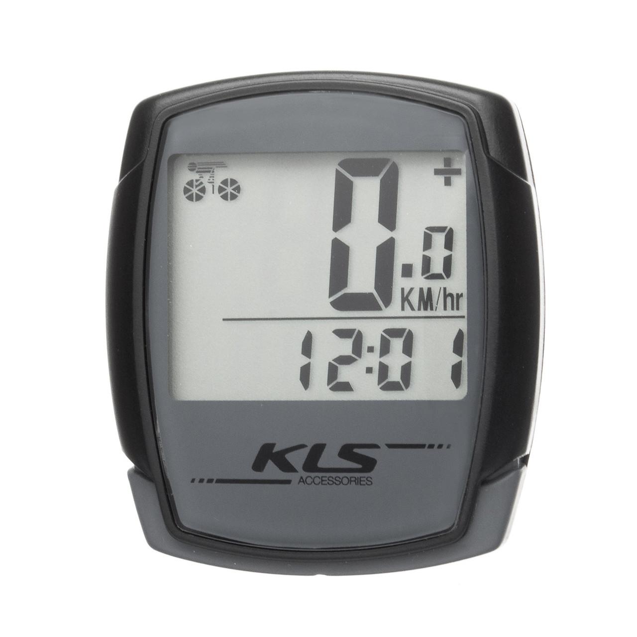 Велокомп'ютер дротовий KLS Digit 9 Grey