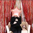 Шторка занавес из фольги для фото красная 1х2 метра, фото 2