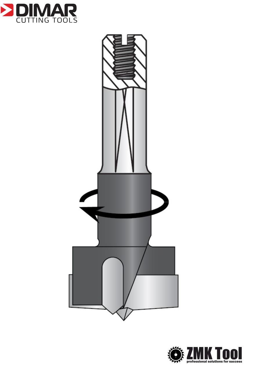 Сверло DIMAR чашечное 15x57.5 правое