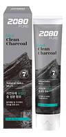 Зубная паста с частицами древесного угля 2080 Black Clean Charcoal Toothpaste, 120 мл