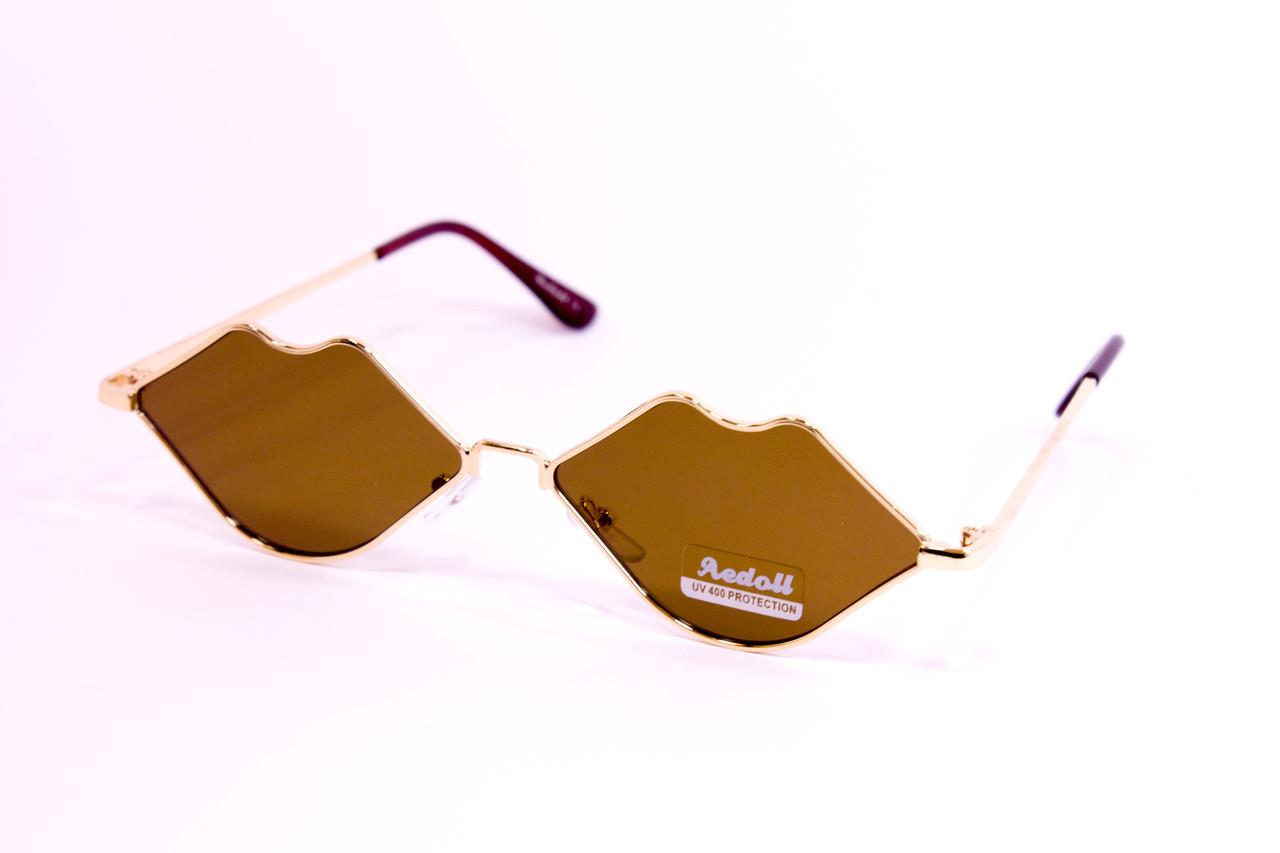 Солнцезащитные женские очки 0275- коричневые