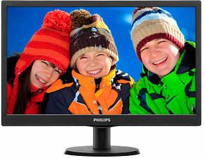 """Монитор Philips 18.5"""" 193V5LSB2/62 Black; 1366 x 768, 200 кд/м2, 5 мс, D-Sub"""