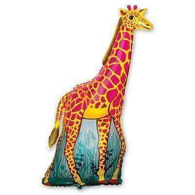 """FM 47"""" Фольгированные шары Жираф оранжевый"""