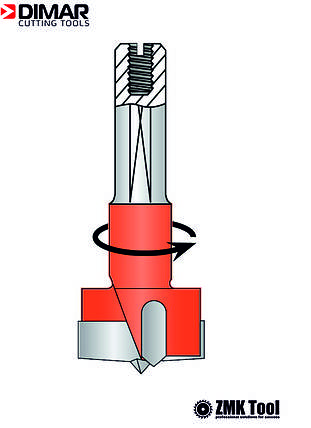 Сверло DIMAR чашечное 20x57.5 левое, фото 2