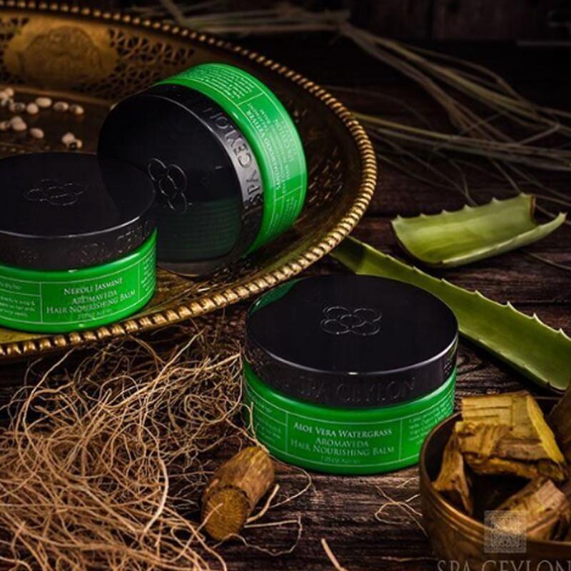 Питательный бальзам для волос Сандал и Ветивер (Sandalwood Vetiver Hair Nourishing Balm, Spa Ceylon)