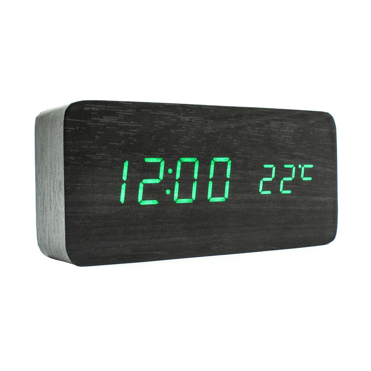 Настольные электронные часы VST-862  в деревянном корпусе с температурой