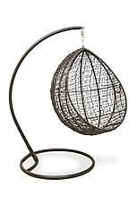 Кресло-качель Кокон лайт (110х96х190)см плетение кольцами стальная опора, фото 3