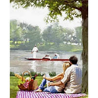 Картина по номерам Пикник на берегу реки VP770 в коробке Babylon 40х50см Пейзаж, природа