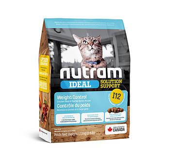 Сухой корм для кошек склонных к ожирению I12 Nutram 1,13 кг