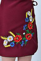 Детская юбка вышитая полевыми цветами для девочек