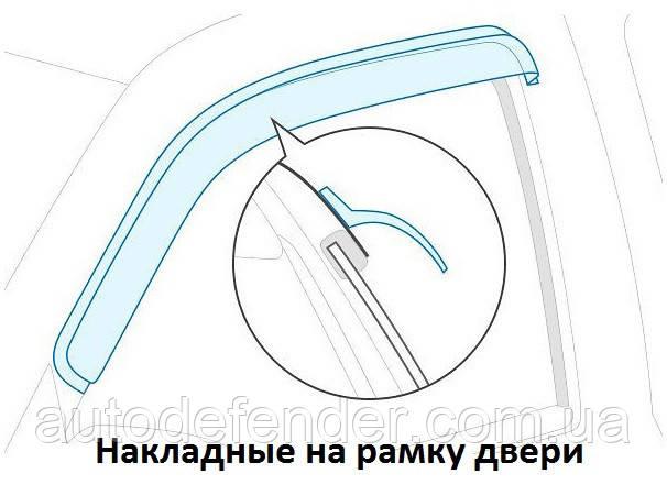 Дефлектори вікон (вітровики) BMW 4 (F32) Coupe 2013-, Cobra Tuning - VL, B22913