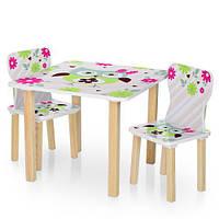 Детский столик деревянный с двумя стульчиками 506-61 Сова