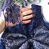 Нарядное синее платье с бантом на девочку на девочку 7. Размеры  98 см, фото 2