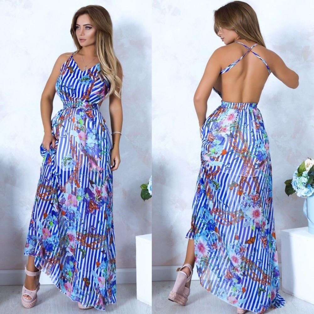 Легкое платье - сарафан в пол